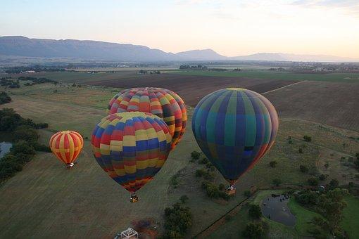 Mountains, Hotair, Ballooning, Scenery, Scenic, Soar