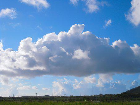 Dynamic, Sky, Cloud, Wind, Blue Sky, White, Blue, Gray