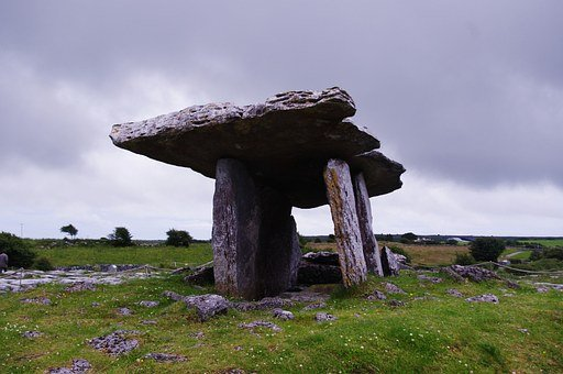 Poulnabrone Dolmen, Ireland, Stone, Rock
