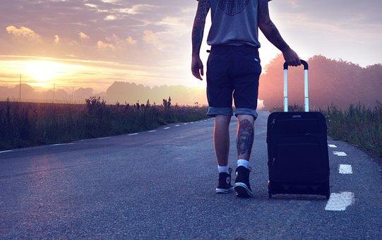 Hiker, Travel, Trip, Wander, Suitcase, Traveler, Go