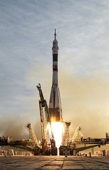 Rocket, Soyuz Rocket, Soyuz, Start, Take Off, Fire, Fly