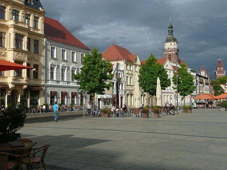 Freiberg, Europe, Town, Market Place, Historic, Square
