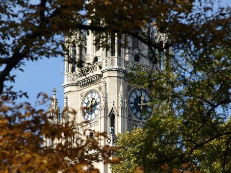 Vienna, Wiener, Town Hall, Austria, Neo Gothic, Autumn