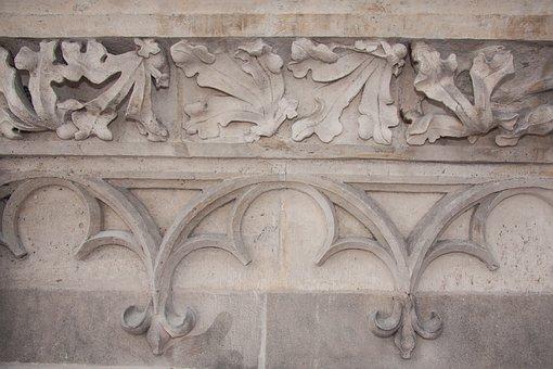 Leaf Frieze, Frieze, Panel Tracery, Gothic, Tracery
