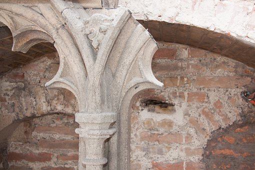 Tracery, Wall, Pillar, Gothic, Restoration, Restore
