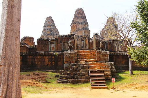East Mebon, Mountain, Temple, Travel, Antique, Old