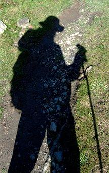 Shadow, Trek, Trekker, Walker, Traveler, Adventure