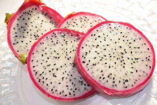 Dragon Fruit, Food, Exotic, Tropical, Pink Skin