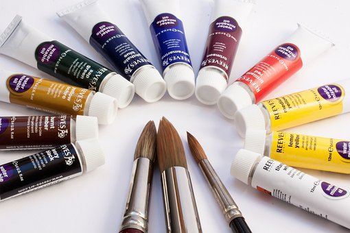 Oil Paints, Color, Soluble In Water, Tubes, Colorful