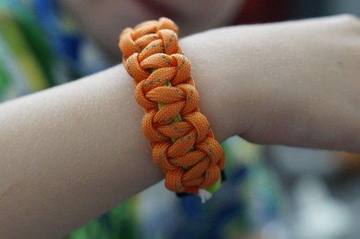 Bracelet, Tying, Linked, Children, Novelty, Paracord