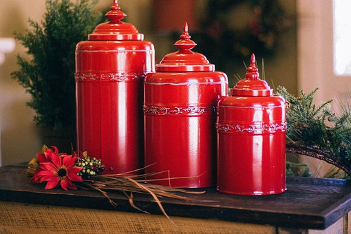 Urns, Ballot Box, Can, Decoration, Red