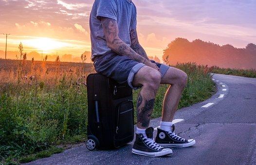 Traveler, Hiker, Trip, Wander, Hitchhike, Hitchhiker