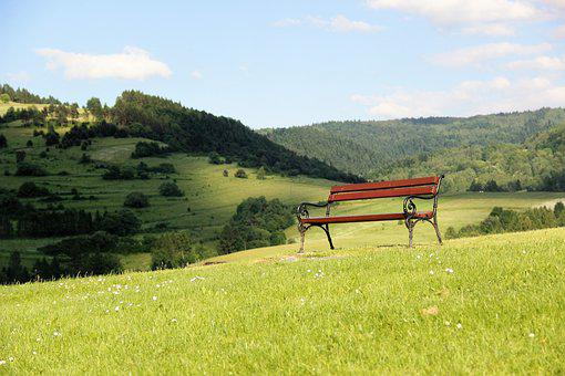 Bench, Park, Alley, Relaxation, Muszyna