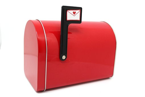 Mailbox, Red, Mail, Letter, Mailbox Closed, Box