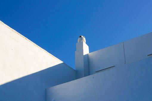 Architecture, Buildings, Walls, White, Concrete, Lines