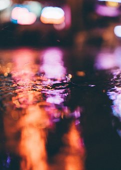 Still, Water, Puddle, Droplet, Drop, Stop, Motion