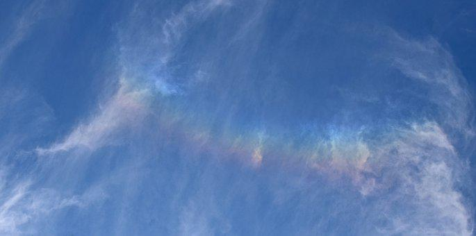 Fire Rainbow In The Clouds, Rainbow, Clouds, Cloudscape