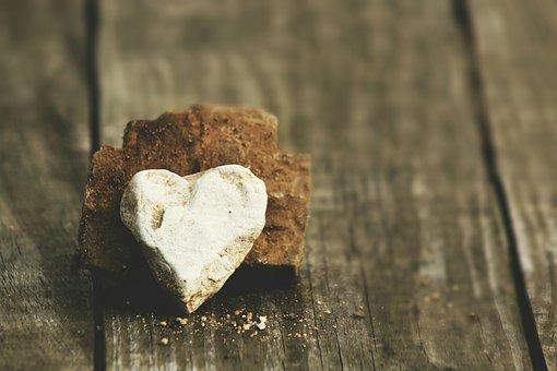 Still, Items, Things, Rocks, Stones, Carved, Heart