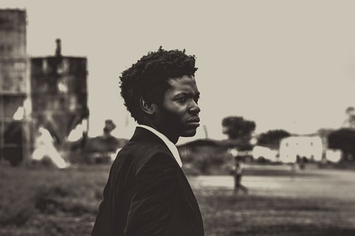 Man, Teen, Young, Afro, Black, White, Ghetto, Suit, Tie