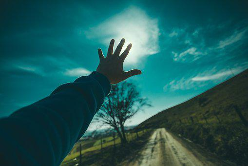 Guy, Man, Male, People, Hands, Reach, Out, Nature, Sky