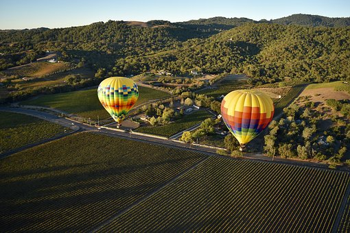 Transportation, Hot, Air, Balloon, Nature, Plots, Land