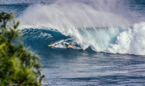 Nature, Water, Ocean, Sea, Waves, Tsunami, Splash
