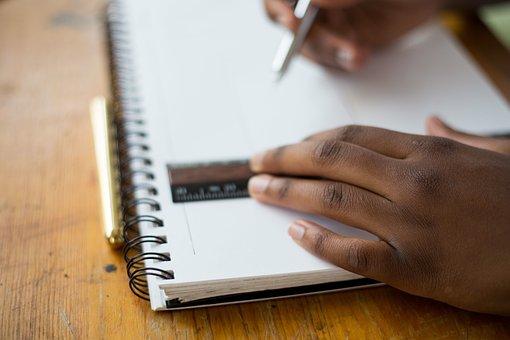 Student, School, Classroom, Desk, Notepad, Notebook