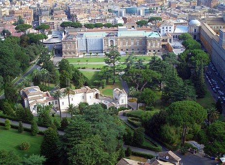 Rome, Vatican Gardens, Pope, Italy, Tourism, Religion