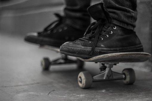 Still, Items, Things, Skateboard, Thrasher, Sneakers