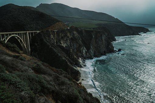 Nature, Coast, Shore, Water, Ocean, Sea, Splash, Rocks