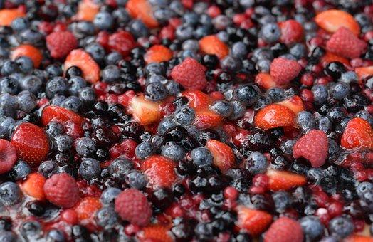 Raspberry, Strawberry, Blackberry, Pie, Forest Fruit