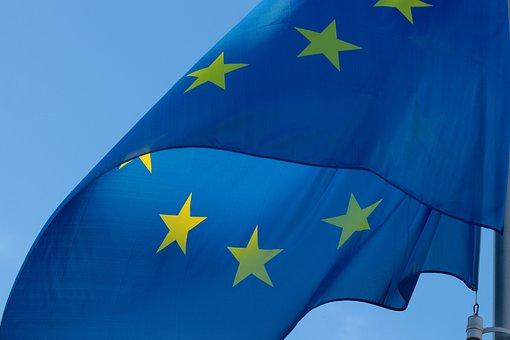 Flag, Europe, Eu, European, Blow, Blue, Star, Flutter