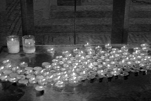 Candles, Worship, Mourn, Tribute, Memorial, Religion