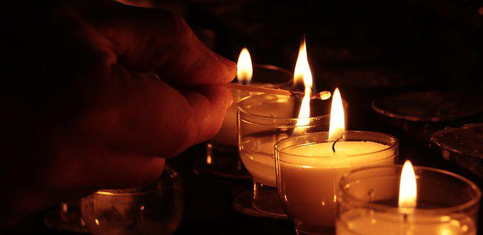 Tea Lights, Hand, Church, Light, Prayer, Candlelight