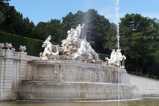 Schönbrunn, Vienna, Fountain, Austria