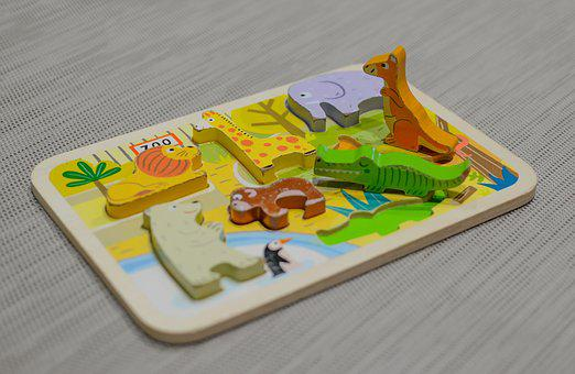 Children, Game, Puzzle, Toy, Fun, Girl, Play, Happy