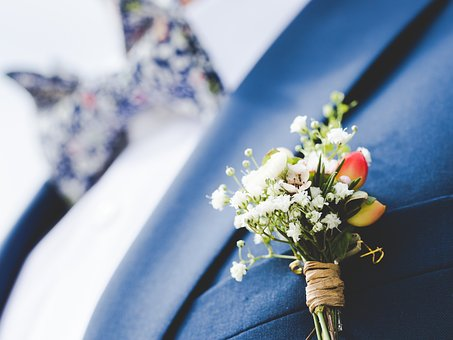 Still, Items, Things, Corsage, Flowers, Pin, Groom, Man