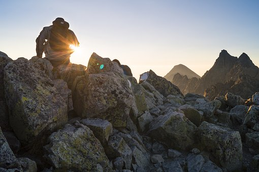 Guy, Man, Male, People, Back, Nature, Mountains, Rocks