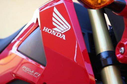 Motorcycle, 125cc, Honda, Red, Aggressive, Fork