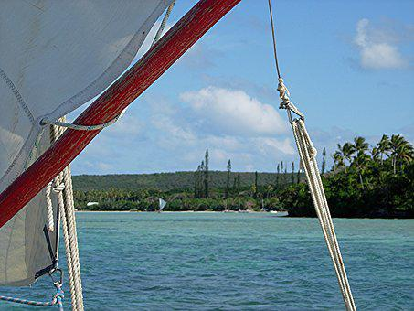 Sailing, Isle Of Pines, Canoe, Lagoon, New Caledonia