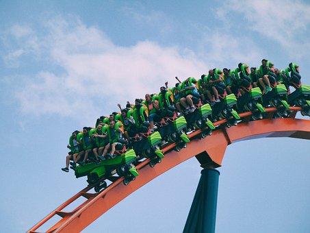 Still, Rides, Themed, Park, Roller Coaster, People