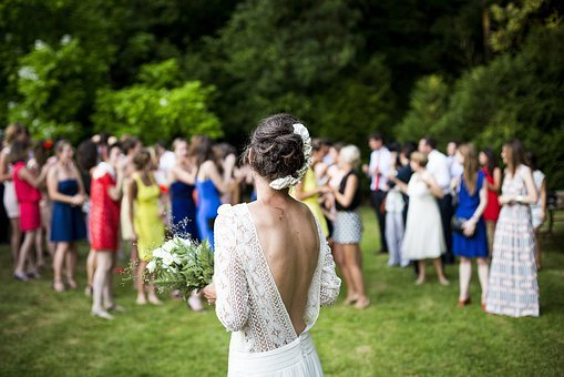 Woman, Girl, Lady, People, Back, Events, Wedding, Bride