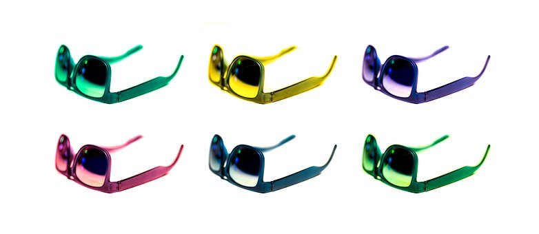 Sunglasses, Colors, Colorful, Photoshop, Edited