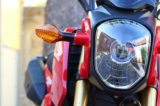 Light Mask, Racing, Bike, Red, Machine, Turned Off