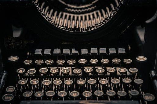 Vintage, Typewriter, Letters, Retro, Old, Type, Writer