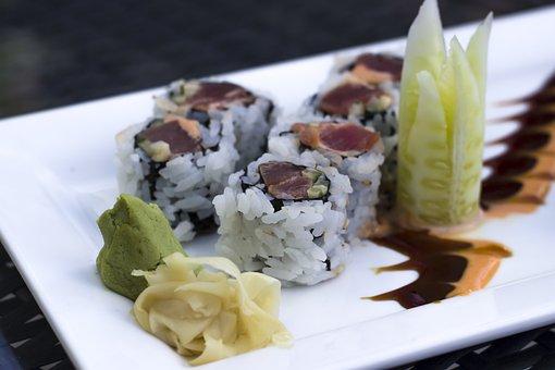 Sushi, Tuna, Fish, Japanese, Seafood, Roll, Restaurant