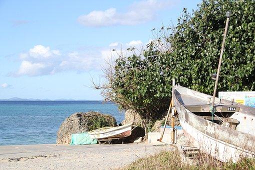 Boat, The Beach, Sea, Okinawa, Fishing, Northern