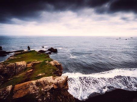 Iceland, Sea, Ocean, Rock, Stone, Rocky, Cliff, Wave