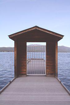 Nature, Shore, Beach, Ocean, Dock, Wood, Gate, Grates