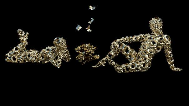Sculpture, Plastic, Art, Factory, Gold, Carat, Form